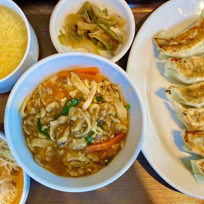 細切り丼と餃子(SEIKA)