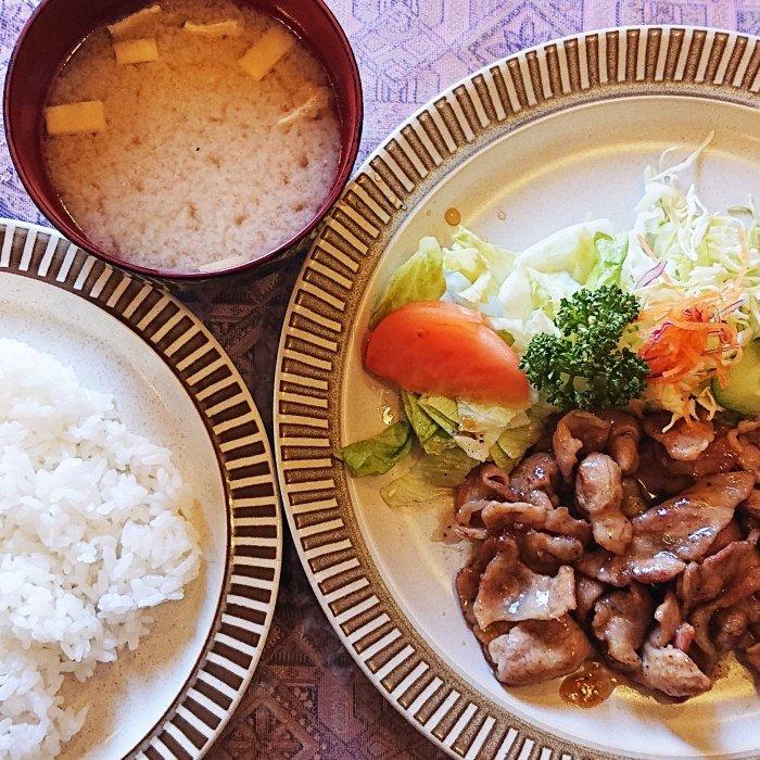 豚肉のみそ焼き(西洋料理専門店ユキノヤ)