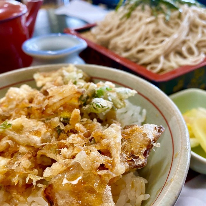セットの「ミニかき揚丼」タレが美味い!(天一坊)